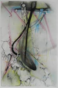 Chaos cohérent, image paul duval artiste Sherbrooke Québec dessin à la poudre photocopieur