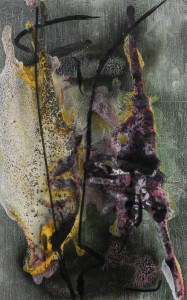 Cosmos organique, image paul duval artiste Sherbrooke Québec dessin à la poudre photocopieur