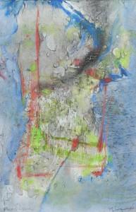 Fleurs liquides image paul duval artiste Sherbrooke Québec dessin à la poudre photocopieur