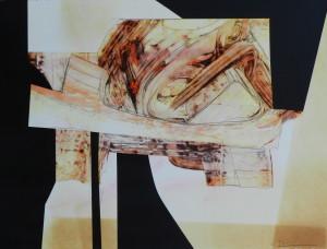 Fragment nomade , image paul duval artiste Sherbrooke Québec dessin à la poudre photocopieur