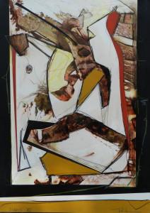 Icarus, image paul duval artiste Sherbrooke Québec dessin à la poudre photocopieur