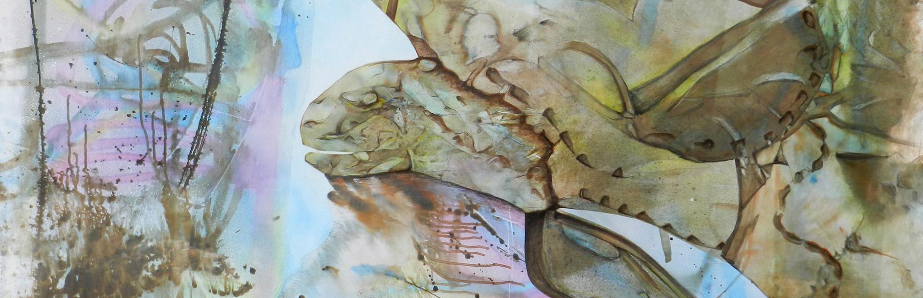 Gardienne du marais image paul duval artiste Sherbrooke Québec dessin à la poudre photocopieur