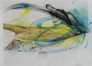 Langage des sables , image paul duval artiste Sherbrooke Québec dessin à la poudre photocopieur
