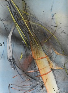 Paul Duval artiste Sherbrooke Estrie. titre Mouvement du jusant , dessin à base de poudre de photocopieur.