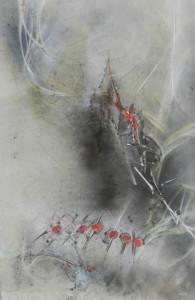 Sonate de vie image paul duval artiste Sherbrooke Québec dessin à la poudre photocopieur