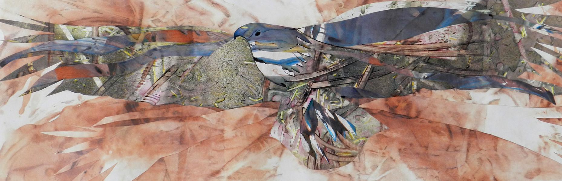 À l'affût image paul duval artiste Sherbrooke Québec dessin à la poudre photocopieur