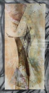 Paul Duval artiste Sherbrooke Estrie. titre À la limite du brouillard, dessin à base de poudre de photocopieur.