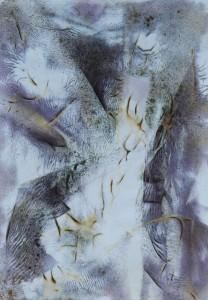 Paul Duval artiste Sherbrooke Estrie. titre Eastman dessin à base de poudre de photocopieur.