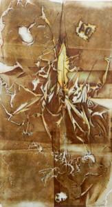 Paul Duval artiste Sherbrooke Estrie. titre Abysse dessin à base de poudre de photocopieur.