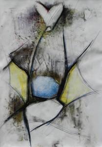 Paul Duval artiste Sherbrooke Estrie. titre Cérémonial dessin à base de poudre de photocopieur.