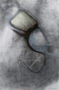 Paul Duval artiste Sherbrooke Estrie. titre Mobile dessin à base de poudre de photocopieur.